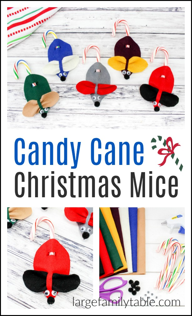 Holiday Candy Cane Mice Craft