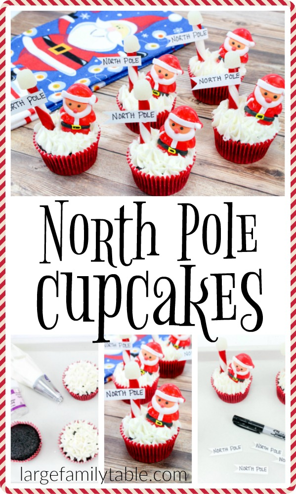 Fast and easy North Pole Cupcakes