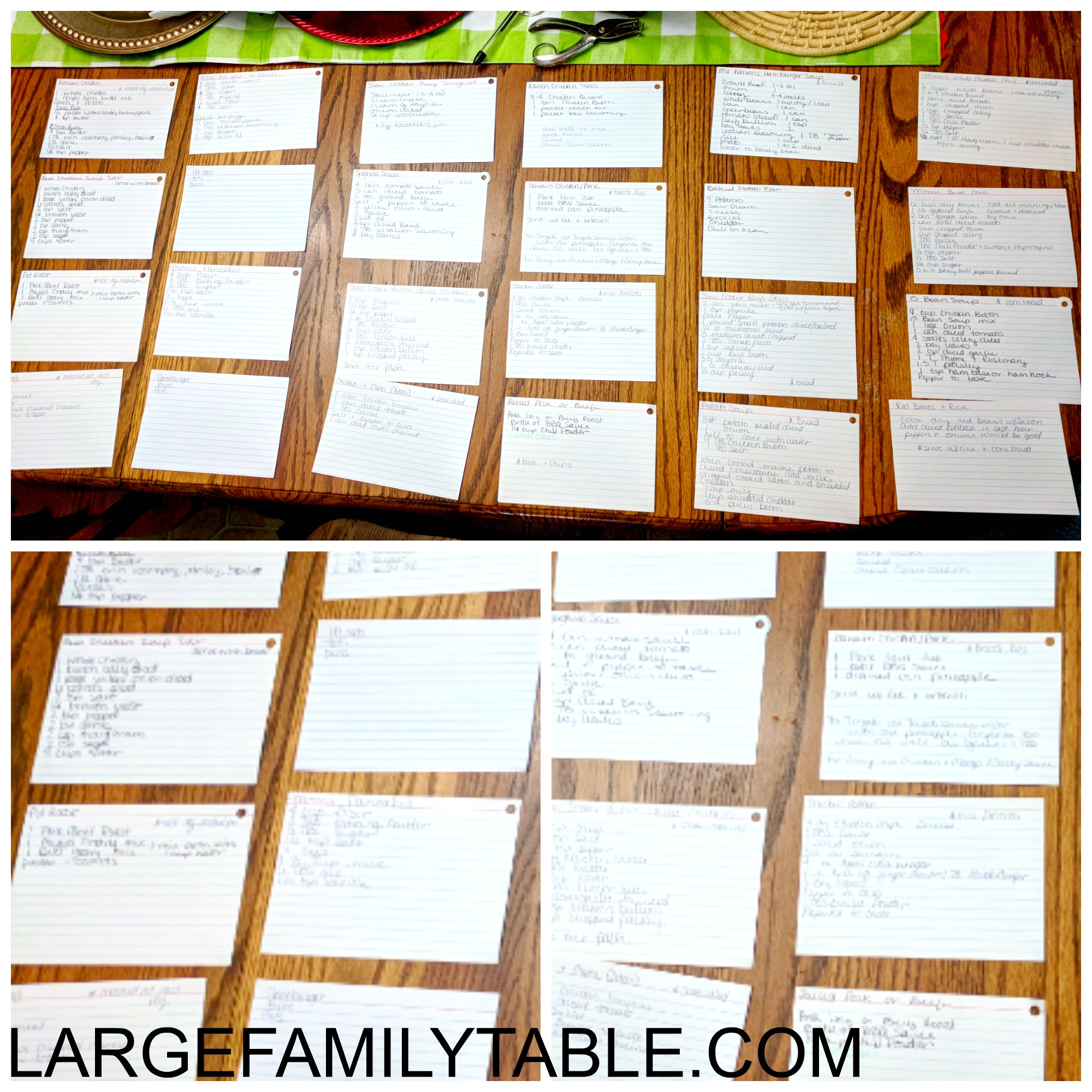a large family meal planning system that s simply brilliant large