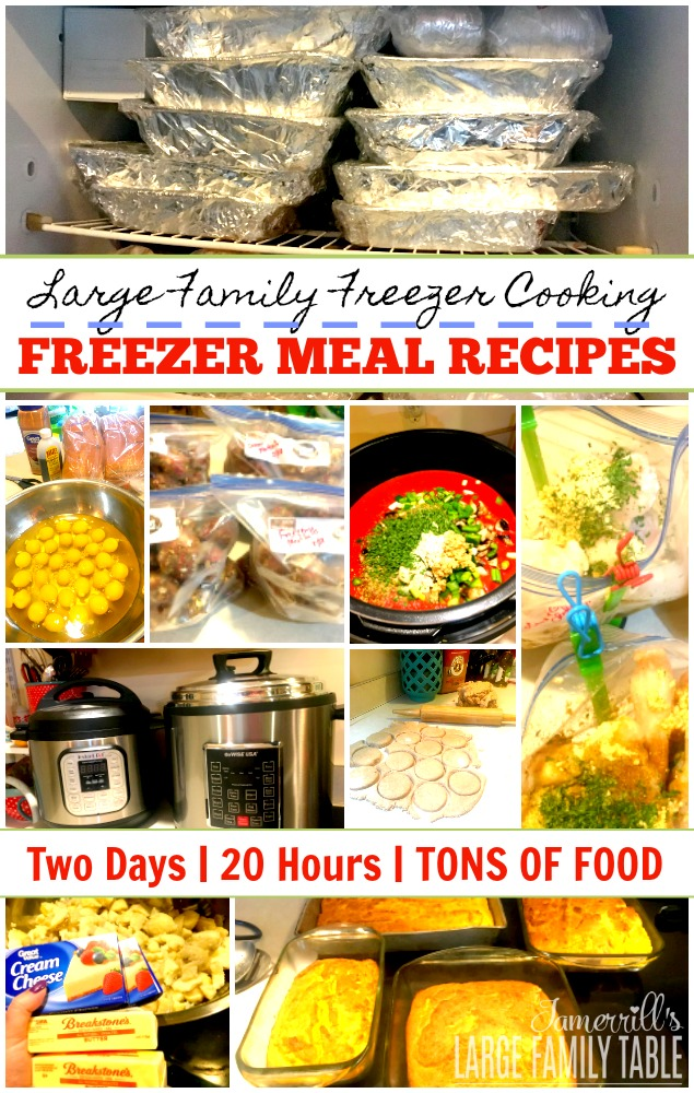 Large Family Meal Ideas