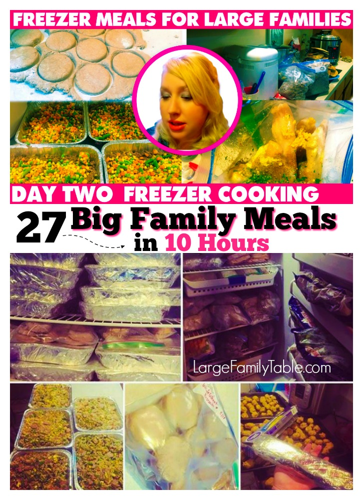 27+ Big Family Freezer Meals | Large Family Table