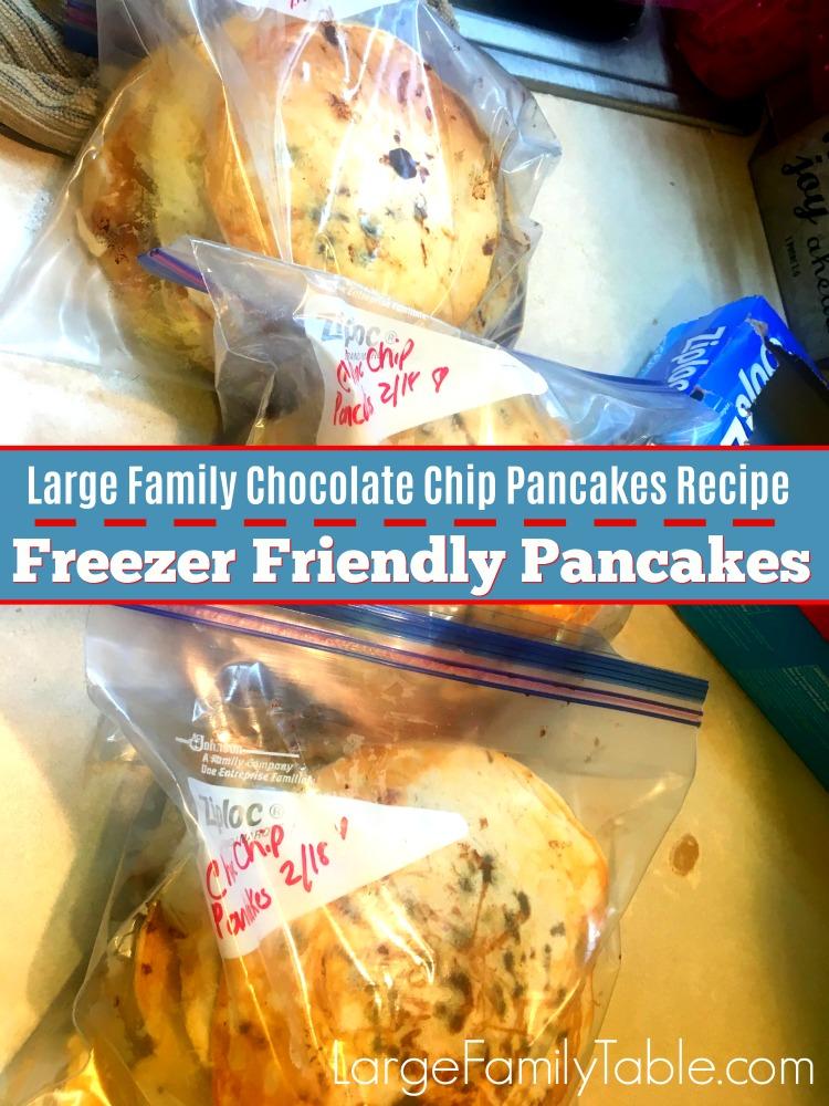 Large family chocolate chip pancakes recipe freezer friendly large family chocolate chip pancakes recipe freezer friendly pancakes ccuart Images