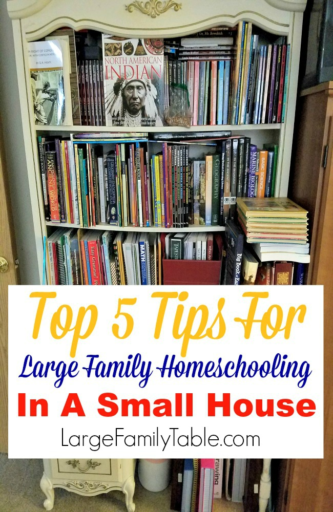 The Science Of Getting Kids Organized >> Top Five Tips For Large Family Homeschooling In A Small House