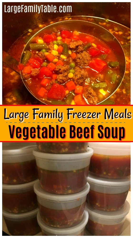 Large Family Freezer Meals Prep Day