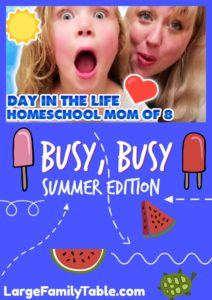 Day in the Life of a Homeschool Mom
