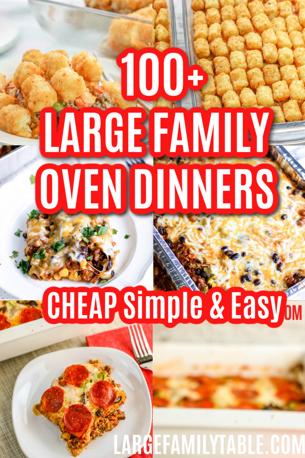 12+ 8+ Simple and Easy Large Family Oven Dinners   Large Family Table Galerie