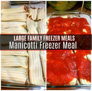 Manicotti Freezer Meal Large Family Freezer Meal Recipes