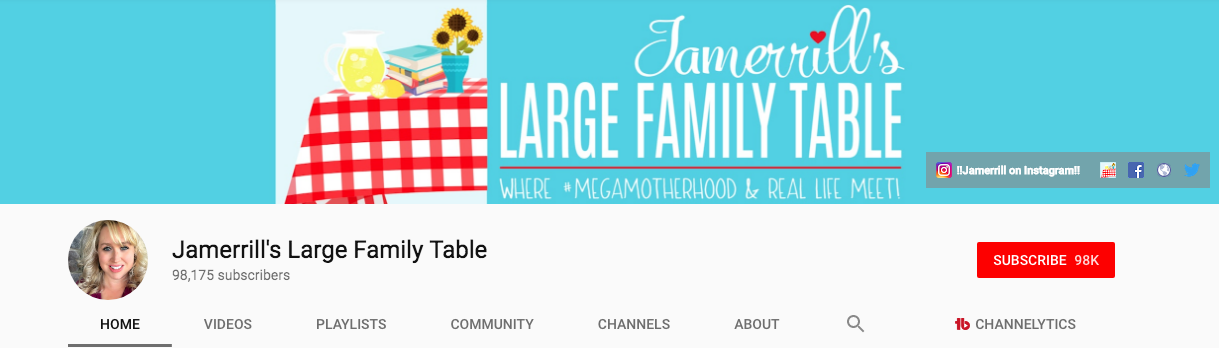 Jamerrill's Large Family Table