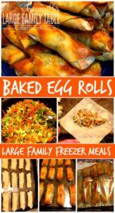 baked egg rolls freezer meals