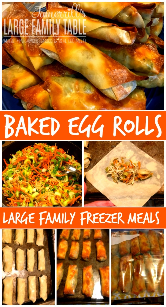 baked egg rolls freezer meals