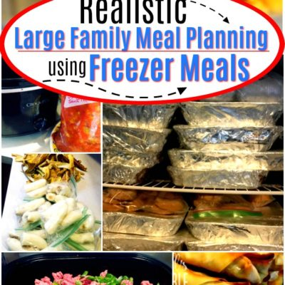 Large Family Meal Planning Using Freezer Meals
