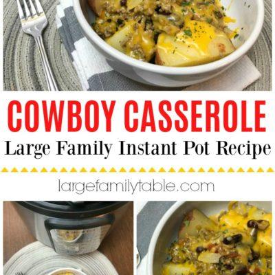 large family instant pot cowboy casserole