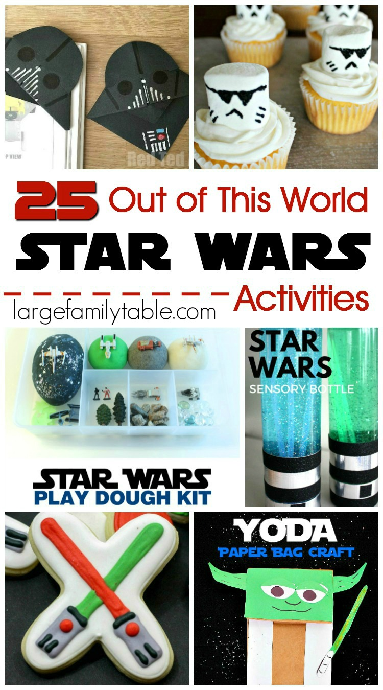 graphic relating to Star Wars Printable Crafts referred to as 25 Out of This World wide Star Wars Routines - Significant Household Desk