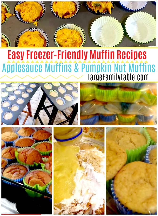 Easy Freezer-Friendly Muffin Recipes | Applesauce Muffins & Pumpkin Nut Muffins