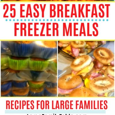 Easy Breakfast Freezer Meals