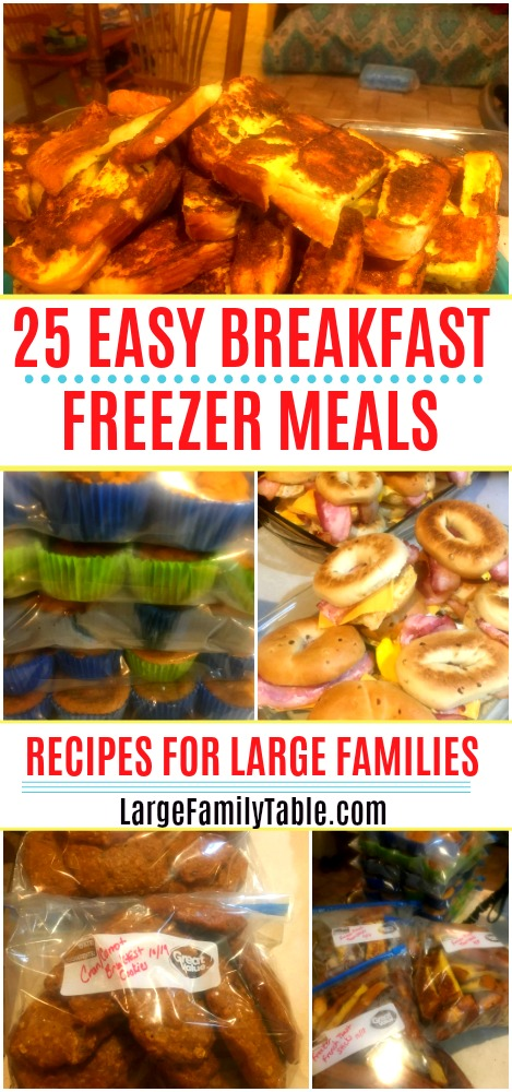 25 EASY BREAKFAST FREEZER MEALS | Pumpkin Pancakes, Breakfast Cookies, Recipes for Large Families!
