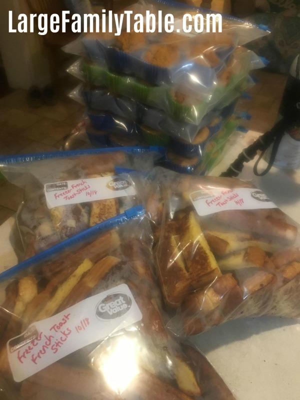 Cinnamon French Toast Sticks for the Freezer