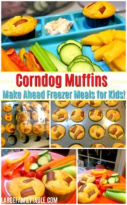 Corndog Muffins Make Ahead Freezer Meals for Kids!