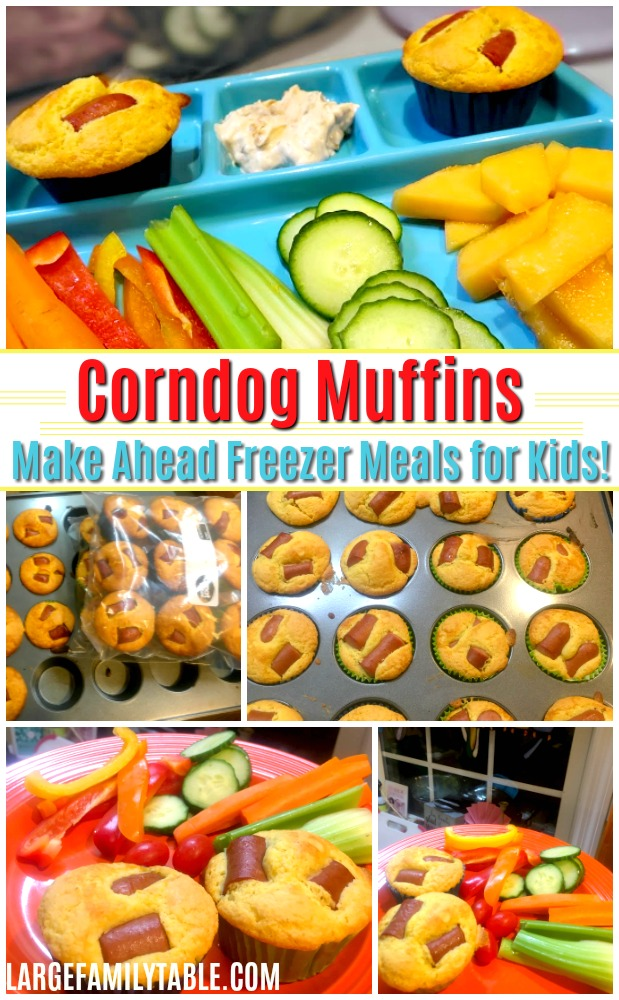 Corndog Muffins - Make Ahead Freezer Meals for Kids!