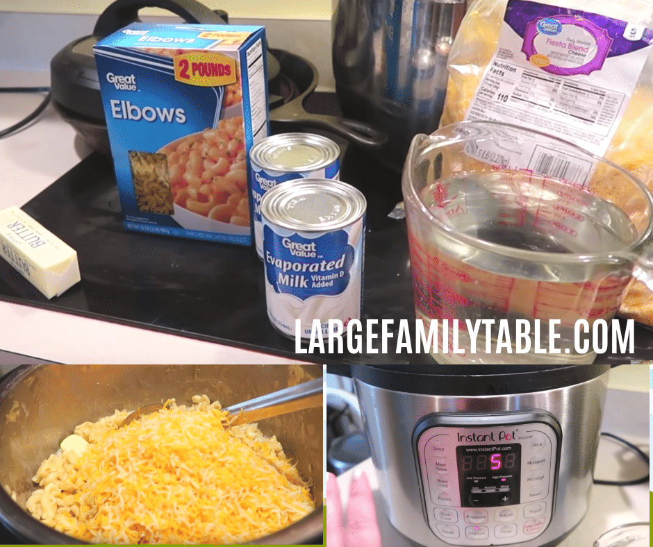 Large Family Instant Pot Macaroni and Cheese