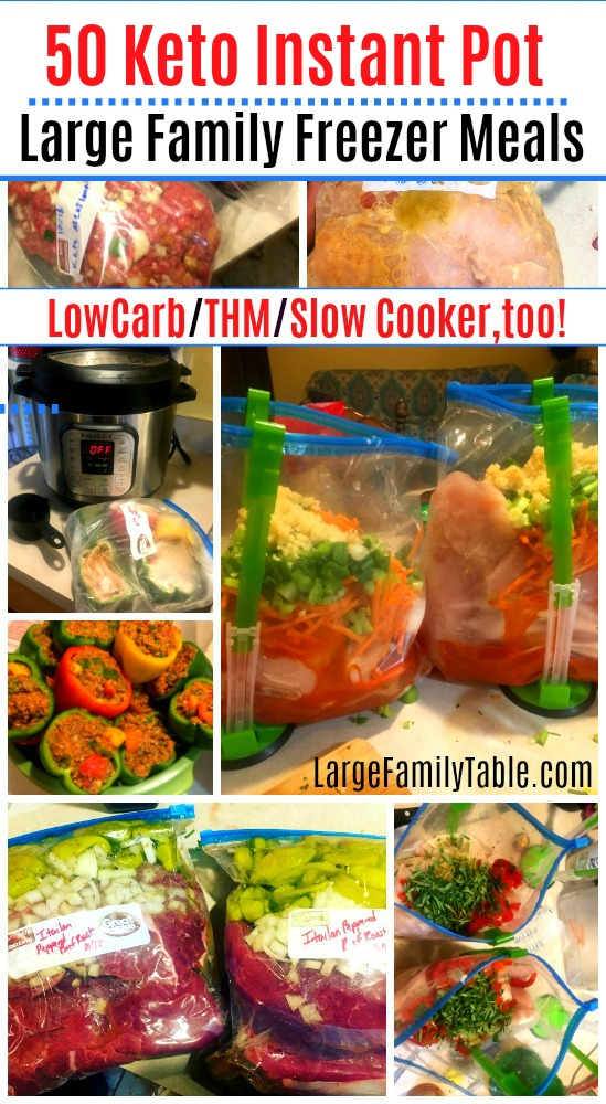 Keto Instant Pot Large Family Freezer Meals