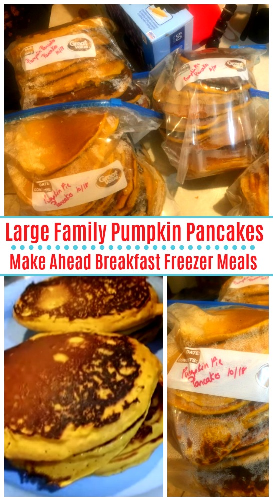Large Family Pumpkin Pancakes