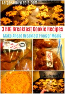 Three BIG Breakfast Cookie Recipes Make Ahead Breakfast Freezer Meals