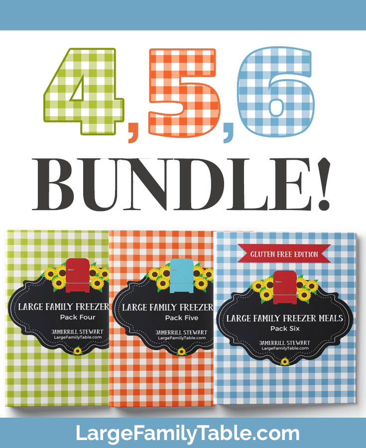 freezer meals bundle