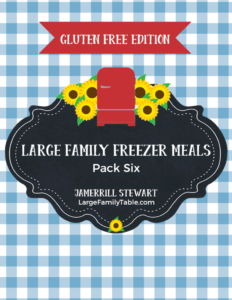 large family freezer meals gluten free