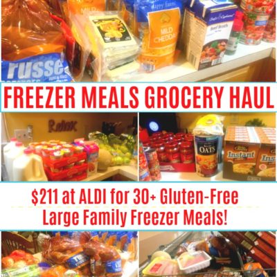freezer meals grocery haul