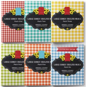 large family freezer meals collection