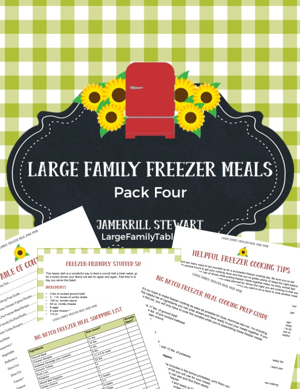 large family freezer meals pack four purchase