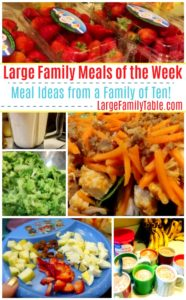 large family meal plan - large family meals of the week