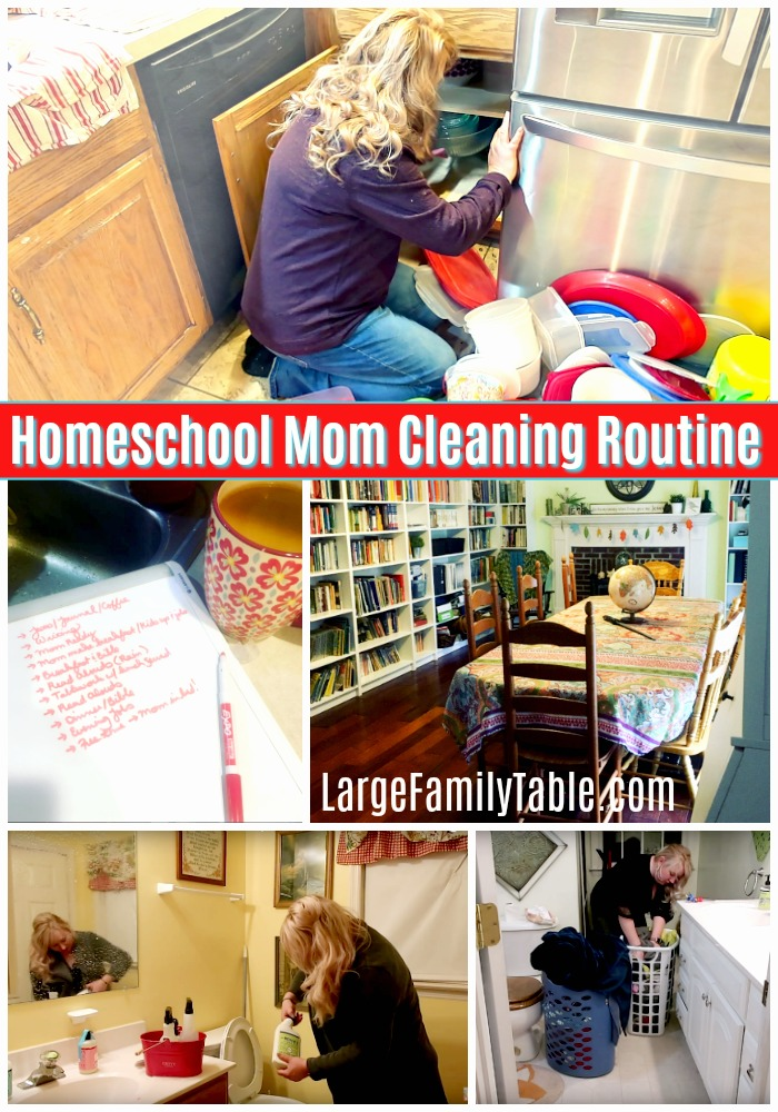 Homeschool Mom Cleaning Routine