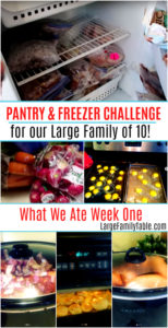 Large Family Pantry and Freezer Challenge Week One