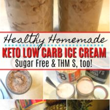 Healthy Homemade Keto Ice Cream in a Jar | Low Carb, Trim Healthy Mama S, too! - Large Family Table
