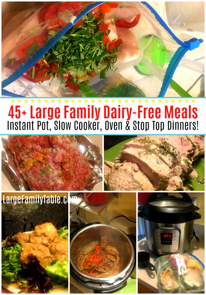 LARGE FAMILY DAIRY-FREE MEALS