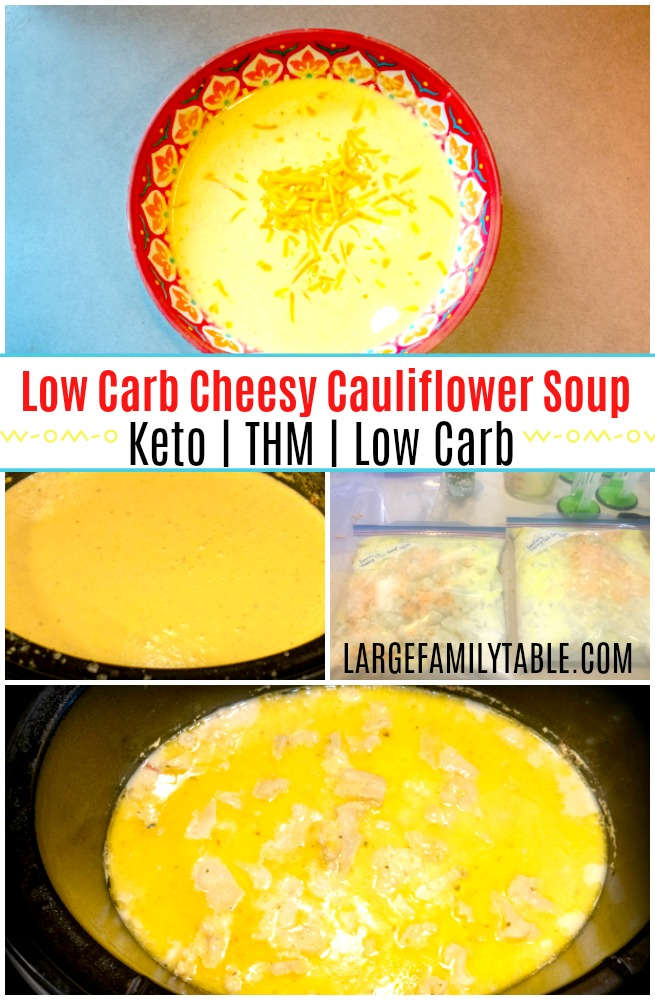 Low Carb Cheesy Cauliflower Soup