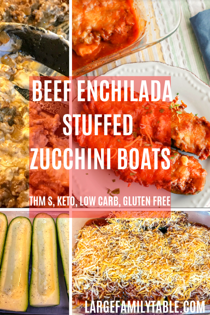 Large Family Beef Enchilada Stuffed Zucchini Boats