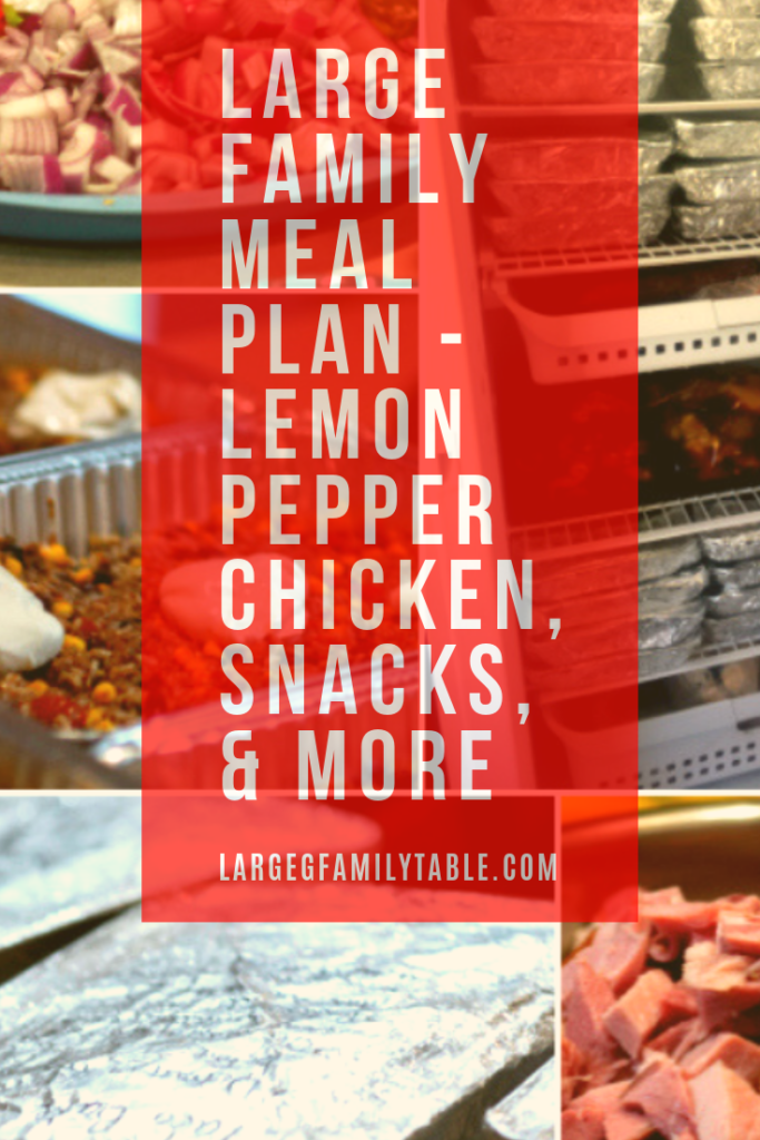 Large Family Meal Plan-Lemon Pepper Chicken, Snacks, & More