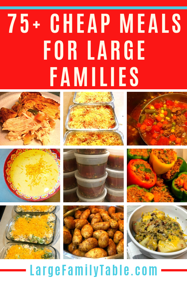 Cheap Meals for Large Families Recipes