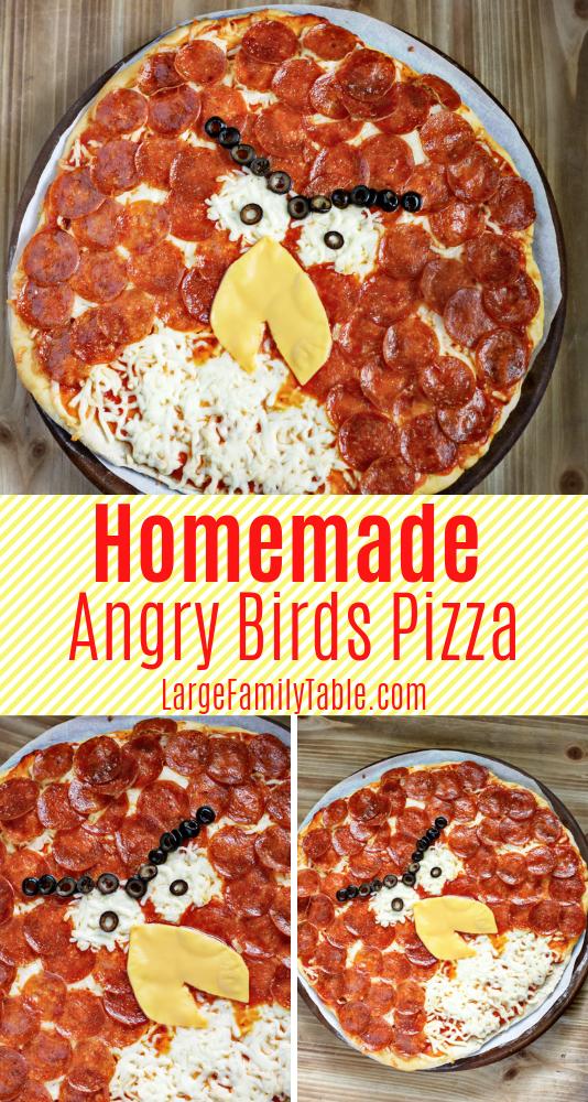 Homemade Angry Birds Pizza Recipe