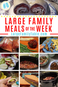 Large Family Meal Plan of the Week