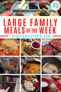 Large Family Meals of the Week