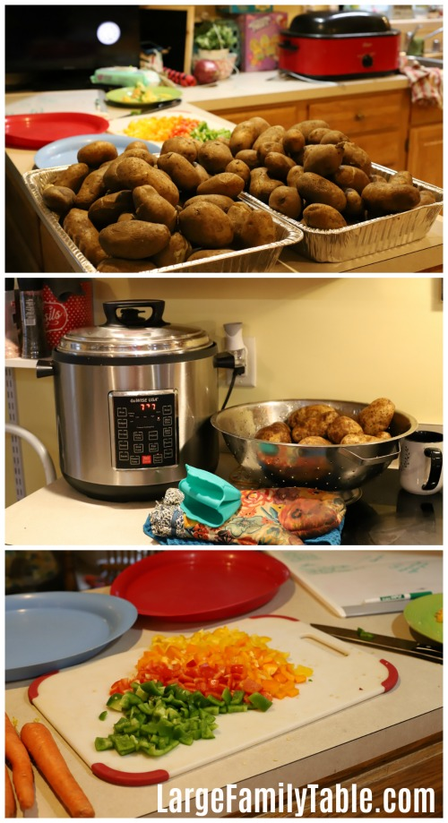 Crockpot freezer meals prep