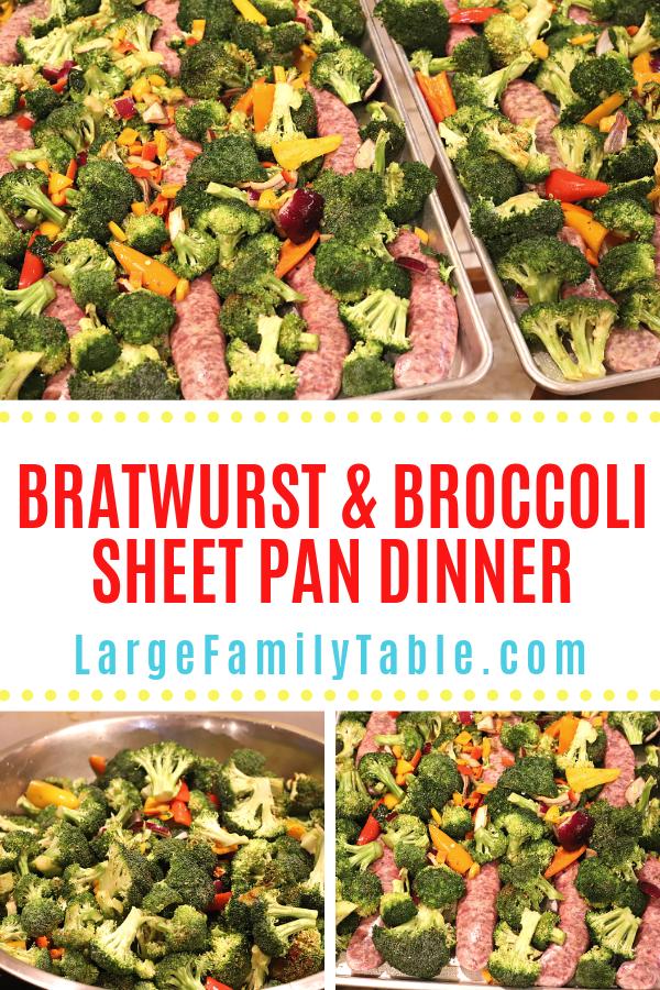 Bratwurst & Broccoli Sheet Pan Dinner Recipe