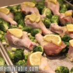 Lemon Pepper Drumsticks with Roasted Brussel Sprouts Sheet Pan Dinner Recipe
