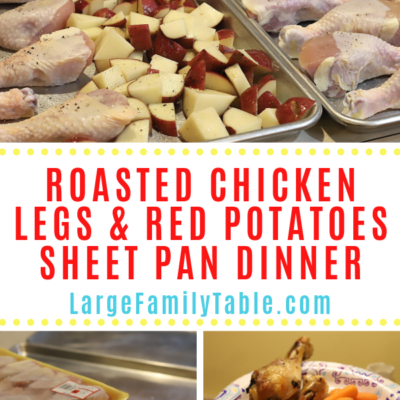 Roasted Chicken Legs and Red Potatoes Sheet Pan Dinner