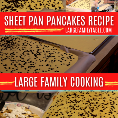 Large Family Sheet Pan Pancakes Recipe