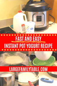 Large Family Instant Pot Yogurt Recipe